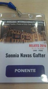 Ponente del Encuentro Internacional de Terapia Familiar Sistémica.
